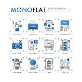 Electronics Devices Monoflat Icons