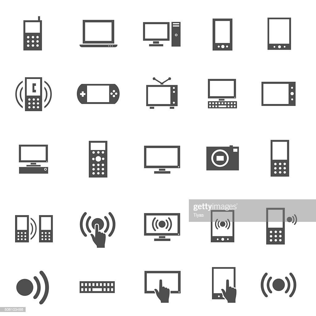 Electronics Icon Set : stock illustration