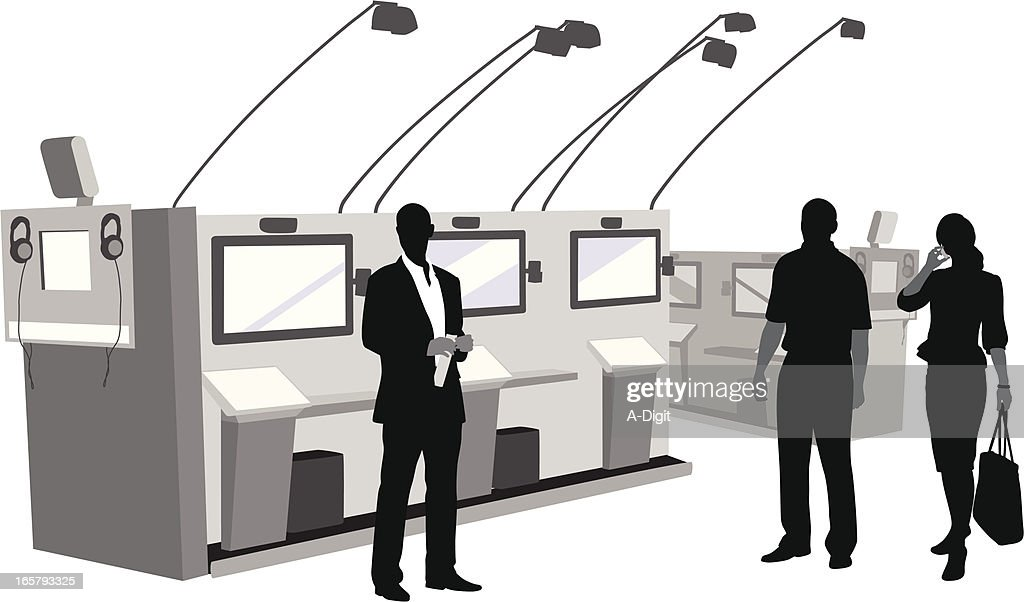 Electronics Industry Vector Silhouette : stock illustration
