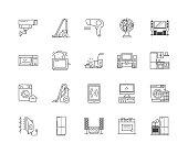 Electronics line icons, signs, vector set, outline illustration concept