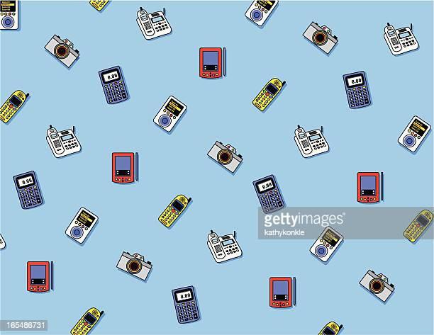 elektronik-muster - electronic organizer stock-grafiken, -clipart, -cartoons und -symbole