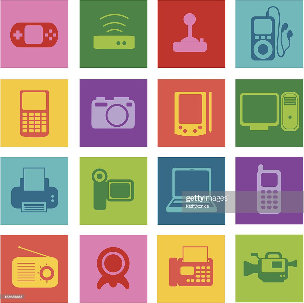 Electronics pop : stock illustration