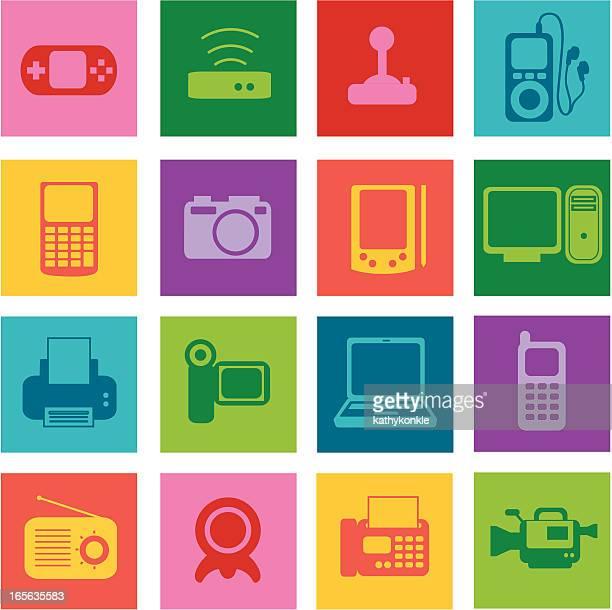 elektronik-pop - electronic organizer stock-grafiken, -clipart, -cartoons und -symbole