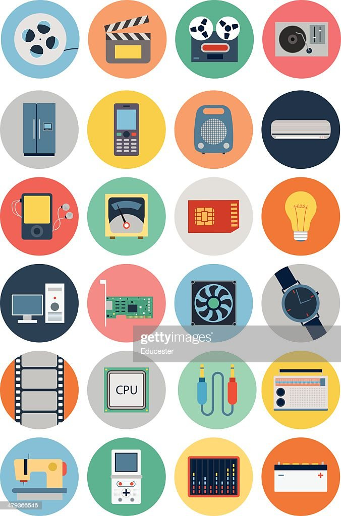 Electronics Vector Flat Icons 4