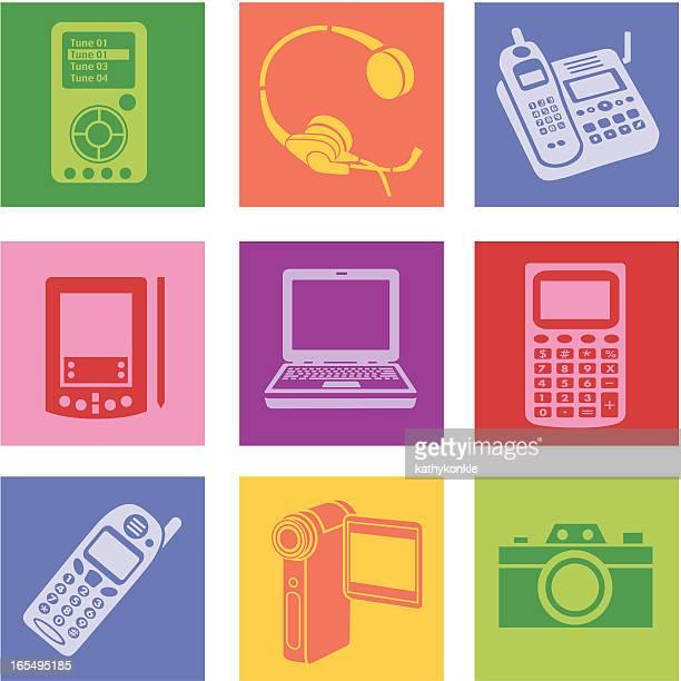 elektronik - electronic organizer stock-grafiken, -clipart, -cartoons und -symbole