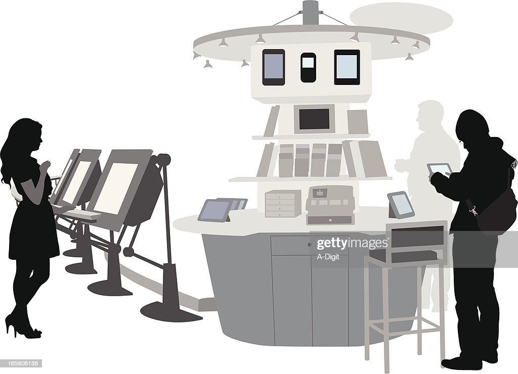 Electronics Vector Silhouette : Vector Art
