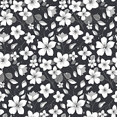 Elegance floral summer or spring pattern template