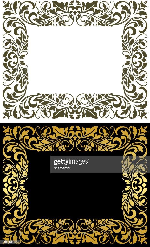 Elegance frame in floral style : Vector Art