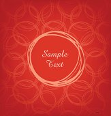 Elegance invitation card with circles
