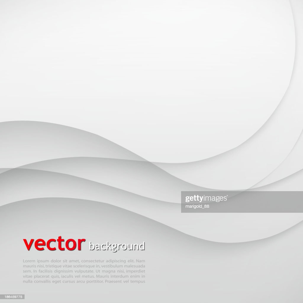 Elegant abstract background with gray waves