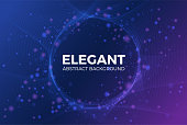 Elegant abstract shiny particle with circle space background. Vector illustration