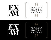 Elegant alphabet letters set. Classic Custom Lettering Designs for logo, Poster, Invitation, etc. Typography font classic style, regular and italic. vector illustrator