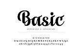 Elegant alphabet letters set. Classic Custom Lettering Designs for logo, Poster, Invitation, etc. Typography font classic style, regular number. vector illustrator