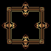 elegant antiquarian frame in art deco style filigree ornament