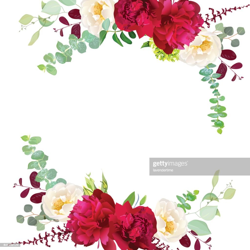 Elegant Autumn Round Floral Bouquet Vector Design Frame Vector Art