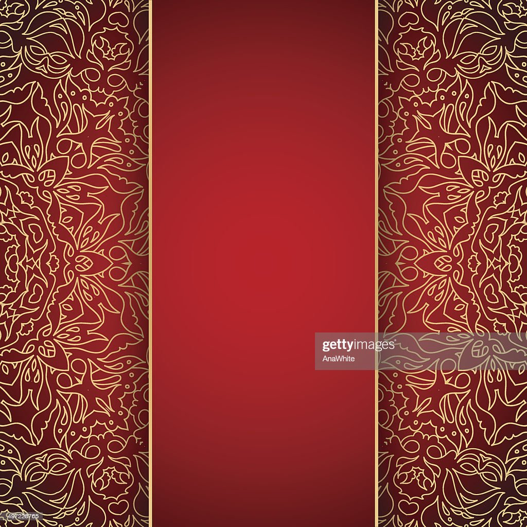 Elegant background with gold lace ornament