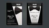 A4 Elegant Black Tie Event Invitation Template