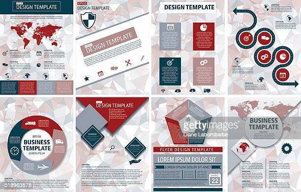 Elegant Business Report Template On A Polygon Background
