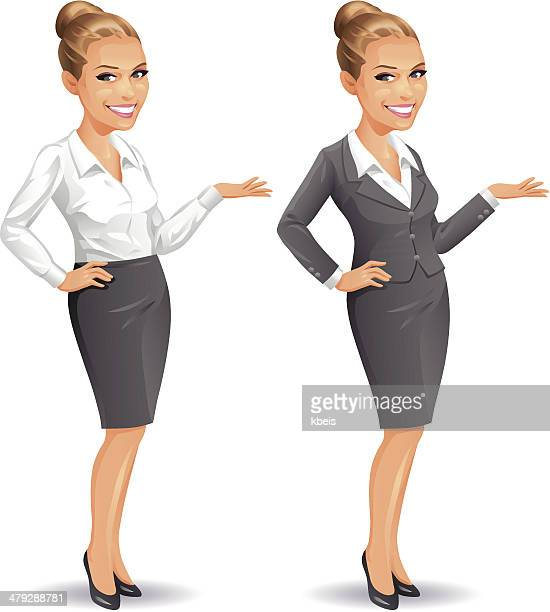 elegant businesswoman - updo stock illustrations, clip art, cartoons, & icons