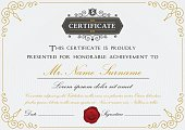 Elegant certificate template design with border,