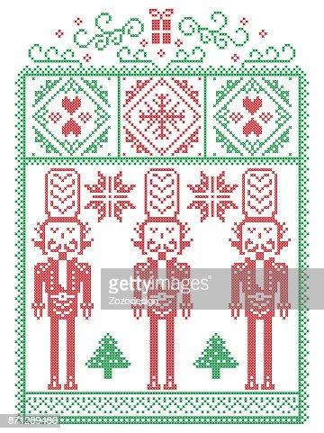 Elegante Skandinavische Weihnachten Nordischen Stil Winter Naht ...