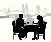 Elegant Dining Vector Silhouette