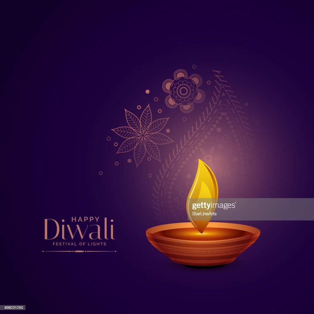 elegant diwali festival greeting background
