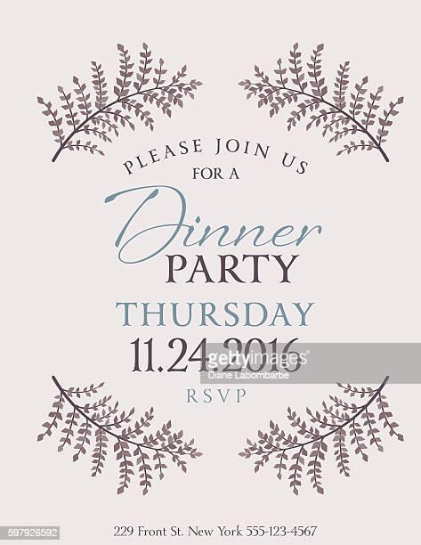 fancy dinner invitationのイラスト素材と絵 getty images