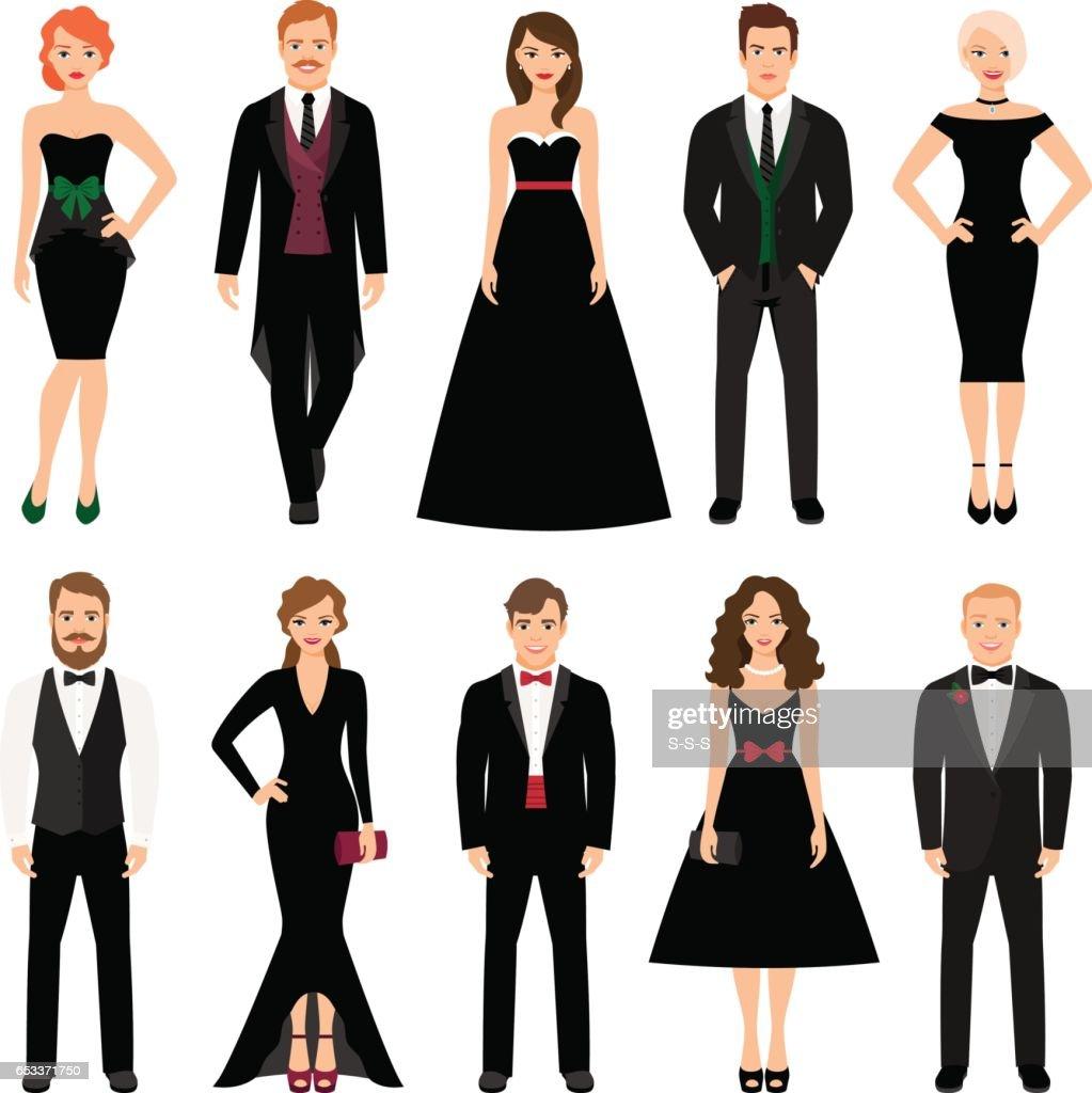 Elegant fashion people illustration