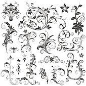 Elegant Floral Ornaments Set II