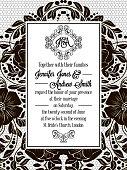 Elegant floral swirls, lacy pattern ornate frame