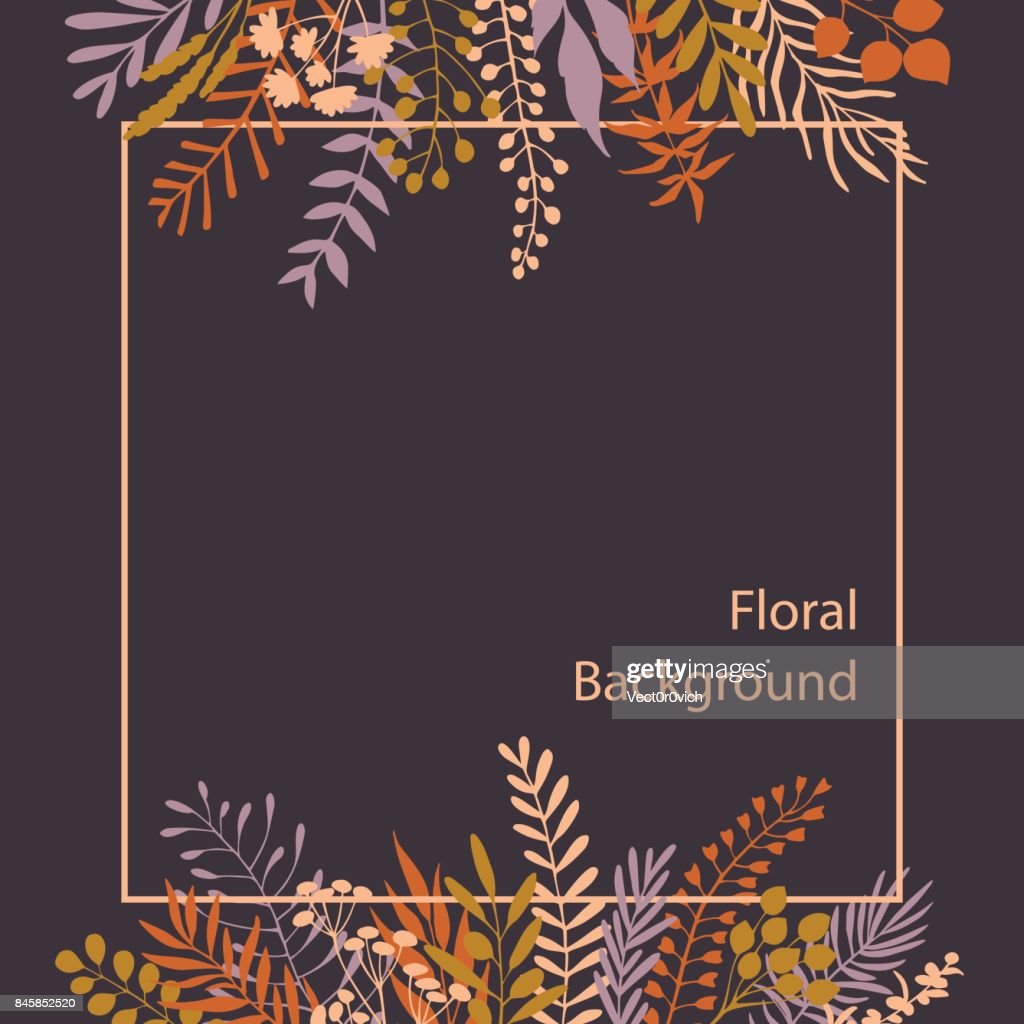 elegant floral twigs and branches wild plants background