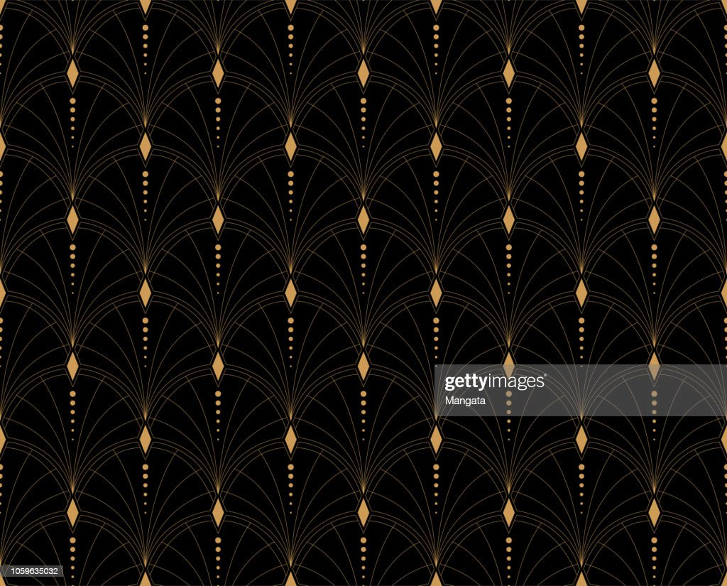 Elegant Floral Vector Seamless Pattern. Decorative Flower Illustration. Abstract Art Deco Background.