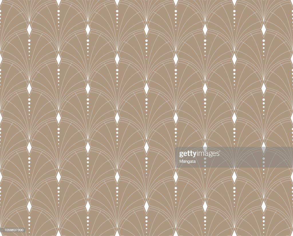 Elegant Floral Vector Seamless Pattern. Decorative Flower Illustration. Abstract Art Deco Background.