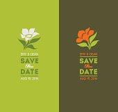 Elegant flowers. Wedding graphic set