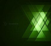Elegant Geometric Green Background