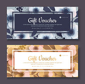 Elegant gift voucher, coupon template.