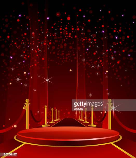 Elegant Glossy Stage with RedCarpet