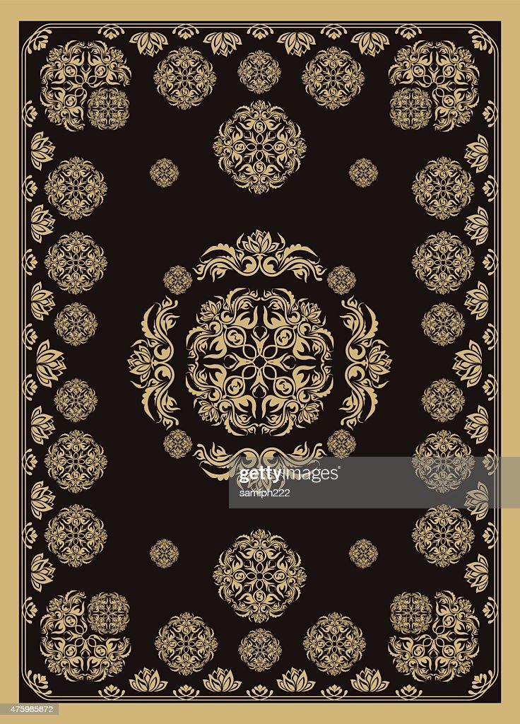 elegant golden carpet design in eastern style