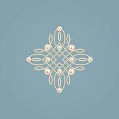 Elegant golden knot sign. Vector illustration.
