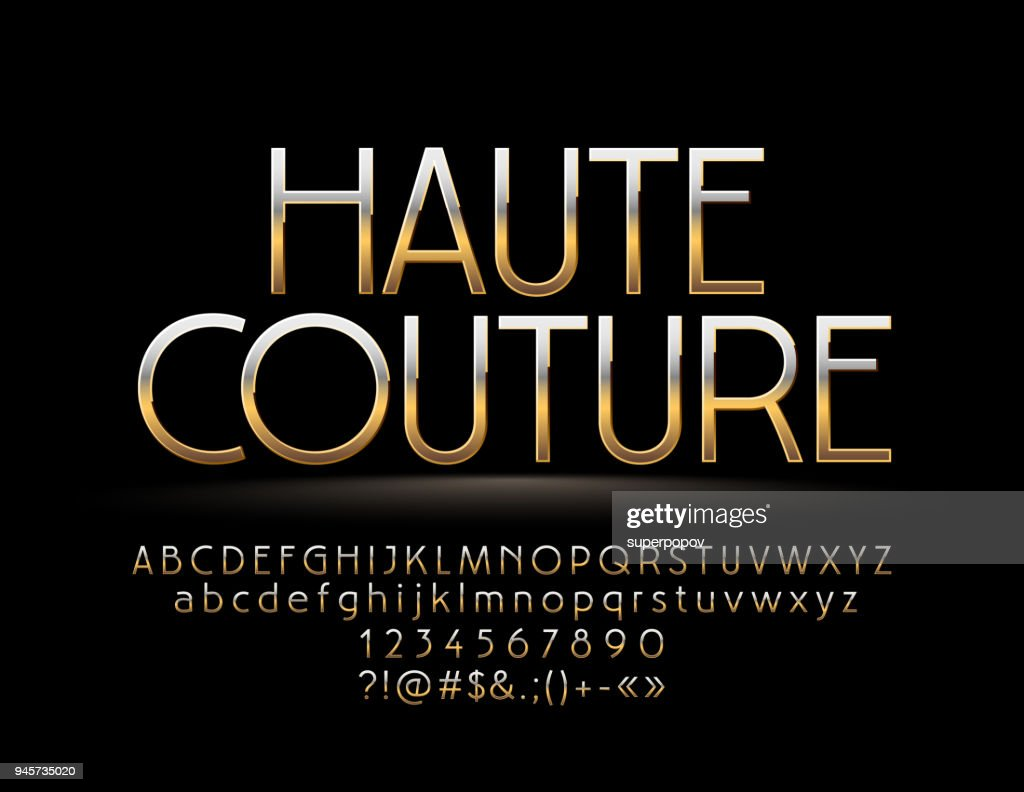 Elegant Golden reflective Sign Haute Couture