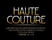 Elegant Golden reflective Sign Haute Couture