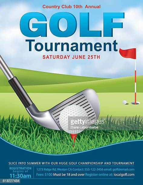 Elegant Golf Tournament Template With Putting Green and Flag