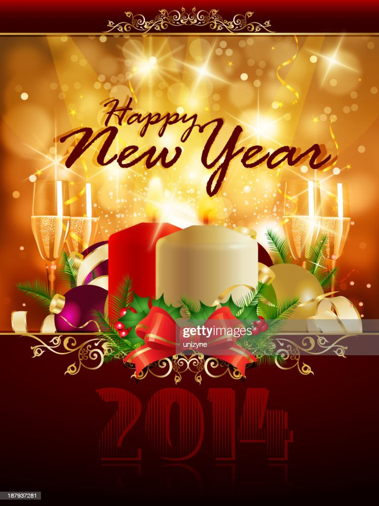 elegant happy new year background vector art