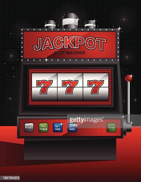 elegant jackpot slot machine - slot machine stock illustrations, clip art, cartoons, & icons