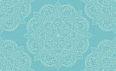 Elegant light blue mandala seamless pattern design. Perfect for backgrounds and wallpaper designs. Vector illustration.