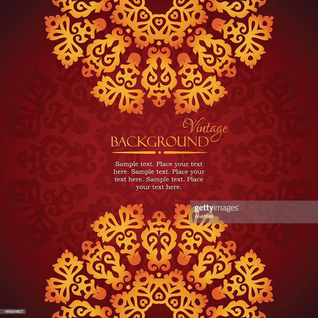 Elegant mandala indian invitation template