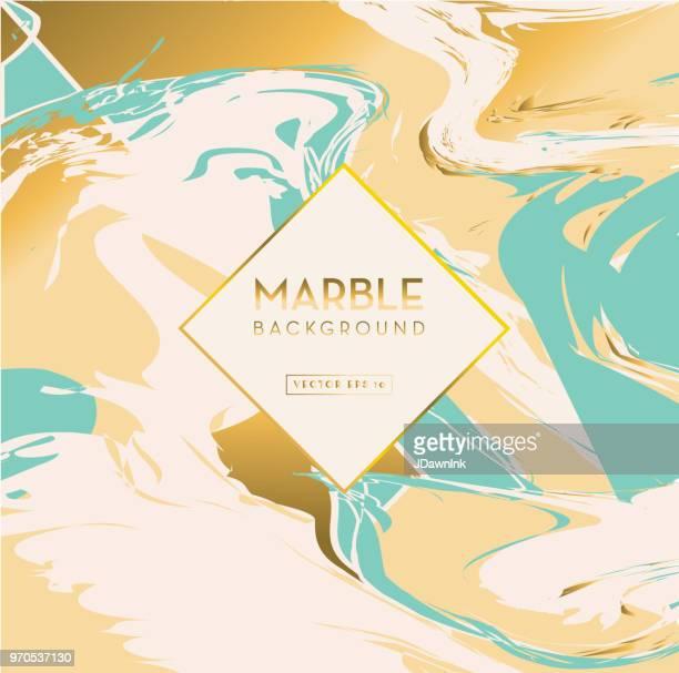 Elegant marble background design with label