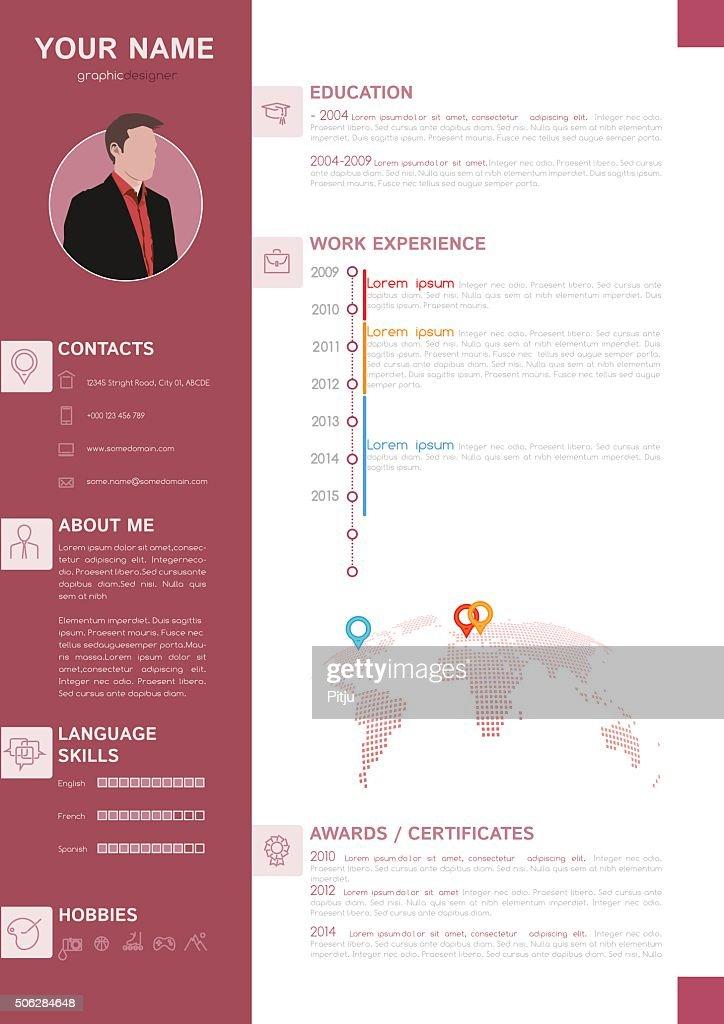 Elegant Minimalist Style Resume - CV Template