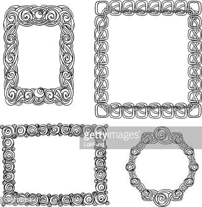 Elegant Ornate Frames In Black And White Vector Art | Getty Images